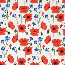 Úplet biely, vlčie maky a modré kvety, š.175