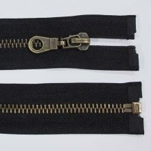 Zips kovový 6mm staromosadz dĺžka 75cm, farba 332 (deliteľný)