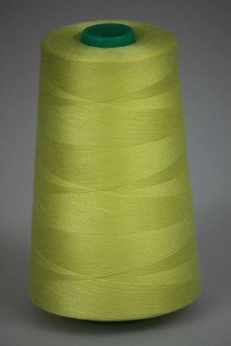 Niť KORALLI polyesterová 120, 5000Y, odtieň 1270, žltá
