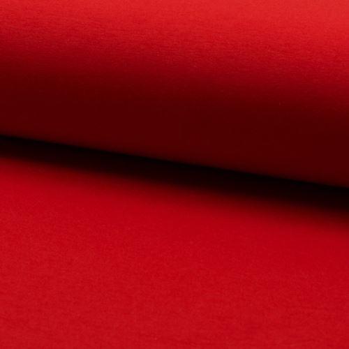 Teplákovina počesaná, červená, š.155