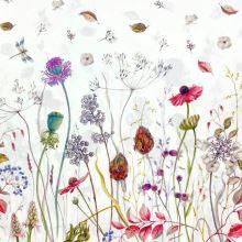 Bavlna krémová, kvetinový vzor, š.140