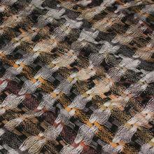 Úplet barevný, proplétaný béžovo-šedý vzor, š.150