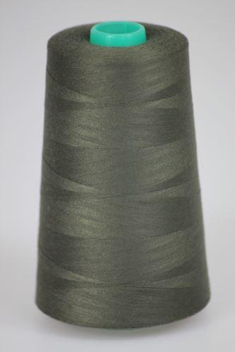 Niť KORALLI polyesterová 120, 5000Y, odtieň 7710, šedá-zelená