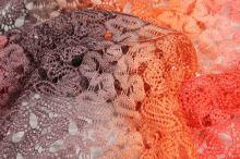 Krajka oranžovo-červená N2910, š.150