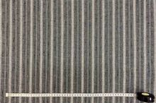 Košeľovina šedý pruh, jemný vzor š.160