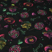 Úplet černý, cupcakes, š.150