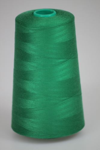 Niť KORALLI polyesterová 120, 5000Y, odtieň 6260, zelená