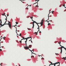 Madeira bílá, růžový květ, š.135/145