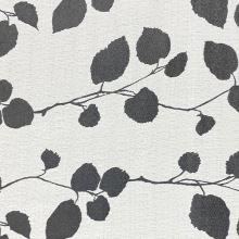 Dekorační látka NELLA, šedé větvičky s listy, š.280