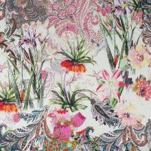 Úplet farebný, kvetinový vzor, š.160