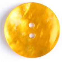 Knoflík perleťový žlutý 241116, 13mm