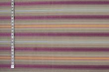 Košeľovina béžová, farebný pruh, š.155