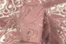 Ozganza 07983 biela, ružový vzor š.140