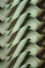 Satén zeleno-žlté vlny š.145