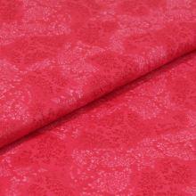 Bavlnené plátno ružové, vetvičky, š.140