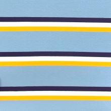 Úplet 21937, modro-žlté pruhy, š.150