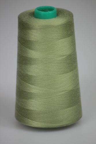 Niť KORALLI polyesterová 120, 5000Y, odtieň 6720, zelená