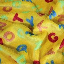 Fleece žlutý, barevná písmena š.145