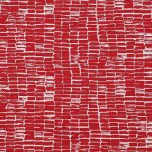 Kostýmovka N4256, červeno biely vzor, š.145
