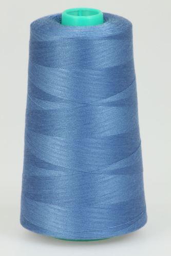 Niť KORALLI polyesterová 120, 5000Y, odtieň 5460, modrá