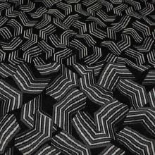 Úplet 18678, šedo-černý vzor, š.145