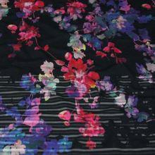 Úplet 16960, červené a modré květy, š.150