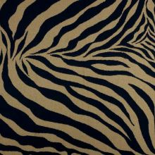 Dekoračná látka hnedo-čierna zebra, š.275