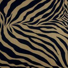 Dekorační látka hnědo-černá zebra, š.275