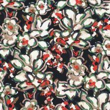 Šatovka černá, barevné květy, š.140
