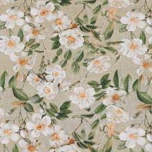 Dekorační látka režná, květinový vzor, š.140
