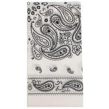 Dětský šátek bílý, kašmírový vzor, 55x55cm