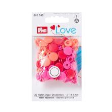 """Patentky Prym Love kulaté """"Color Snaps"""" 393002, 12,4 mm"""