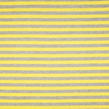 Úplet rebrový, žlto-šedý prúžok, 180g/m, š.145