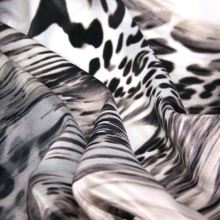 Satén wild animal, hnědočerný vzor, š.150