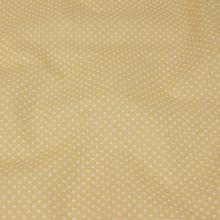 Bavlna béžová, drobný bílý puntík, š.140