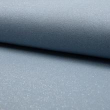 Teplákovina počesaná světle modrá, stříbrný lurex, š.150