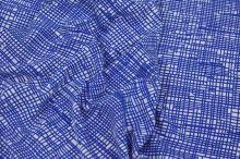Úplet bílý, modré linky, š.150