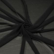 Šifon černý, š.145