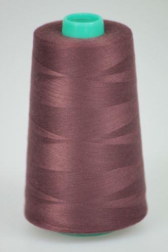 Niť KORALLI polyesterová 120, 5000Y, odtieň 2760, hnedá