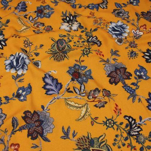 Šatovka okrová, modré květy, š.140