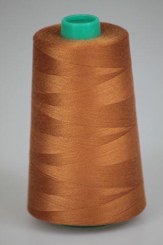Nit KORALLI polyesterová 120, 5000Y, odstín 8120, hnědá-oranžová