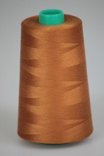 Niť KORALLI polyesterová 120, 5000Y, odtieň 8120, hnedá-oranžová