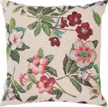 Dekoračný vankúš kvetinový vzor, 45x45 cm