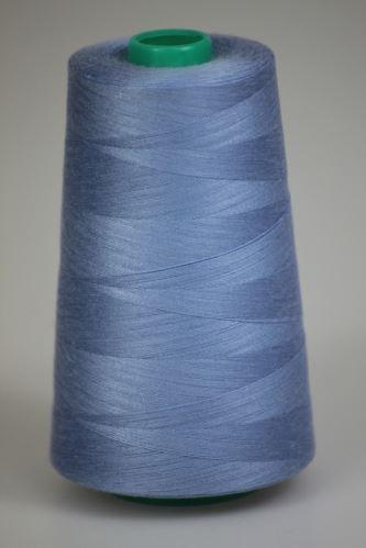 Niť KORALLI polyesterová 120, 5000, odtieň 5330, modrá