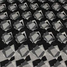 Úplet 18677, šedo-černý vzor, š.150
