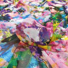 Šifon barevný 20298, abstraktní vzor, š.145