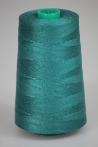 Niť KORALLI polyesterová 120, 5000, odtieň 6530, modrá-zelená