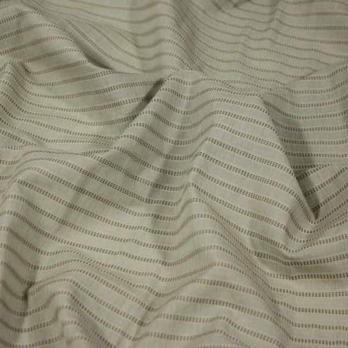 Košilovina béžová s výšivkou, hnědý pruh, š.155