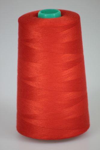 Niť KORALLI polyesterová 120, 5000Y, odtieň 2420, červená-oranžová