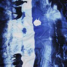 Úplet modro-bílý, zebra, š.150